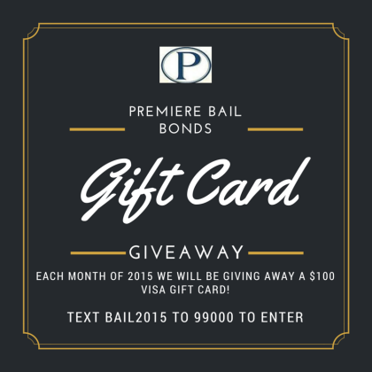 Premiere Bail Bonds Gift Card Giveaway 2015